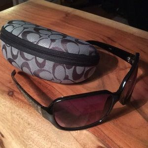 Coach sunglasses w/ matching case Rose tinted lens